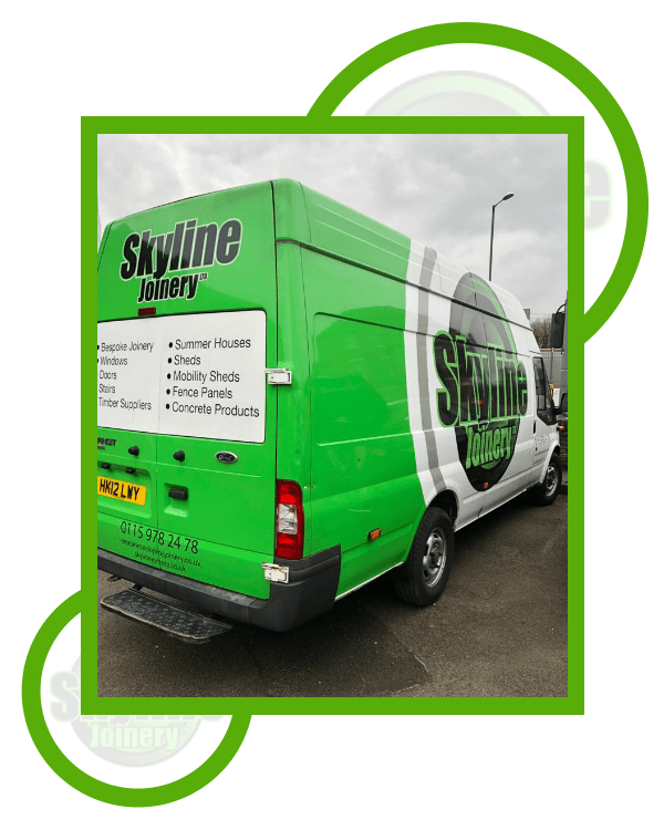 Skyline Joinery Green Van